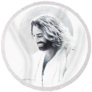 Joy Of The Lord Vignette Round Beach Towel