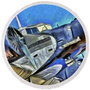 Junkers Ju 52 Art Round Beach Towel