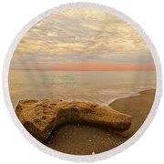 Jupiter Beach Round Beach Towel