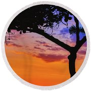Just Another Kona Sunset Round Beach Towel