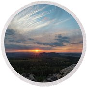 Just Before Sundown Round Beach Towel