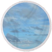 Round Beach Towel featuring the photograph Just Blue Skies by Jamart Photography