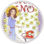 Just Say No Round Beach Towel