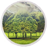 Round Beach Towel featuring the photograph Just Trees by Leigh Kemp