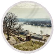 Kalemegdan Park Fortress In Belgrade Round Beach Towel