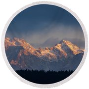 Kamnik Alps In The Morning. Round Beach Towel