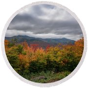 Kancamagus Highway Scene Round Beach Towel