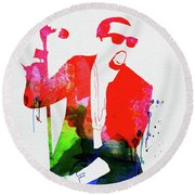 Kanye Watercolor Round Beach Towel