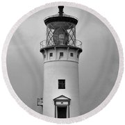 Kauai Lighthouse, Hi. Round Beach Towel