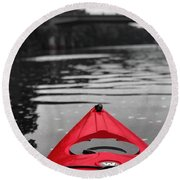 Kayaking The Occoquan Round Beach Towel