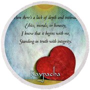 Kaypacha -february 13,2019 Round Beach Towel