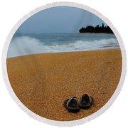 Ke'e Beach Round Beach Towel