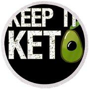 Keep It Keto Round Beach Towel