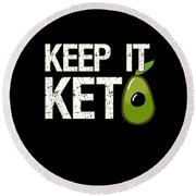 Keep It Keto Round Beach Towel