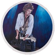 Keith Richards Round Beach Towel