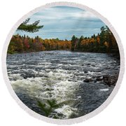 Kennebec River Round Beach Towel