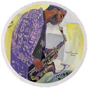 Kenny Garrett Round Beach Towel