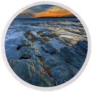 Kettle Cove Evening Round Beach Towel
