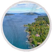 Keuka Center Point Round Beach Towel