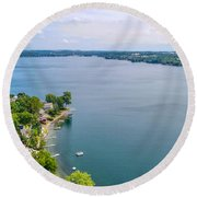 Keuka Views Round Beach Towel