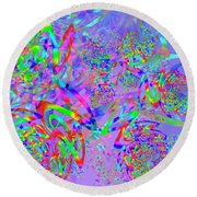 Round Beach Towel featuring the digital art Key Remix One by Vitaly Mishurovsky