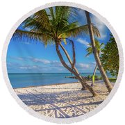 Round Beach Towel featuring the photograph Key West Florida by Robert Bellomy