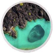 Kiholo Bay Bait Ball Round Beach Towel