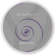 Kindness Round Beach Towel