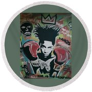 King Basquiat Round Beach Towel