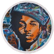 King Lamar Round Beach Towel