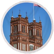 King Mill - Augusta Ga 3 Round Beach Towel