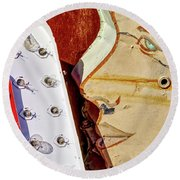 Round Beach Towel featuring the photograph Kiss by Skip Hunt