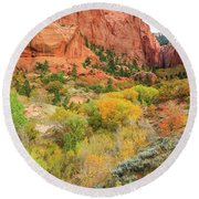 Kolob Canyon 2, Zion National Park Round Beach Towel