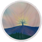 Round Beach Towel featuring the painting Komorebi by Kevin Daly