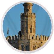 La Torre De Oro Detail. Seville Round Beach Towel