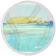 La Tortue, St Barthelemy, 1996_4179, 122x74 Cm, 6,86 Mb Round Beach Towel