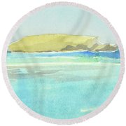 La Tortue, St Barthelemy, 1996_4179 Clean Cropped, 102x58 Cm, 6,86 Mb Round Beach Towel