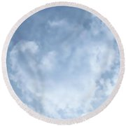 Round Beach Towel featuring the photograph Lace Agate Sky by Judy Kennedy