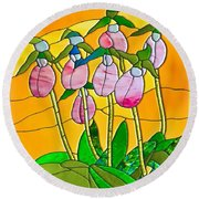 Ladyslippers  Round Beach Towel