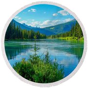 Lake At Banff Indian Trading Post Round Beach Towel