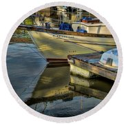 Lake Dardanelle Marina Round Beach Towel
