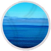Lake Superior Blue Round Beach Towel