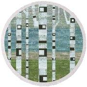 Lakeside Birches 2.0 Round Beach Towel