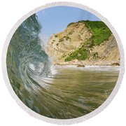 Land And Sea Round Beach Towel