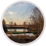 Round Beach Towel featuring the photograph Landscape Scenery by Anjo Ten Kate
