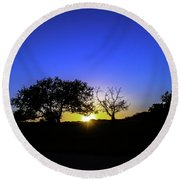 Last Light Texas Hill Country Paradise Canyon Sunset 8053a1 Round Beach Towel