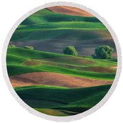 Late Afternoon In The Palouse Round Beach Towel