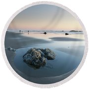 Late Summer Vacation Round Beach Towel