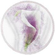 Lavender Calla Lily Flower Round Beach Towel