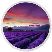 Lavender Season Round Beach Towel